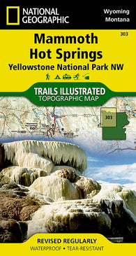 Buy map Yellowstone Northwest, Mammoth Hot Springs by National Geographic Maps