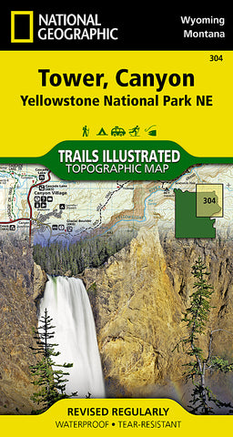 Buy map Yellowstone Northeast, Tower and Canyon by National Geographic Maps