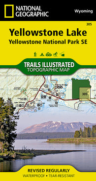 Buy map Yellowstone Southeast, Yellowstone Lake by National Geographic Maps