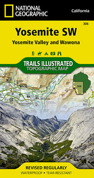 Buy map Yosemite Southwest, Yosemite Valley and Wawona, Map 306 by National Geographic Maps