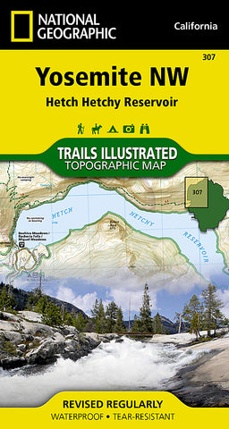Buy map Yosemite Northwest, Hetch Hetchy Reservoir, Map 307 by National Geographic Maps