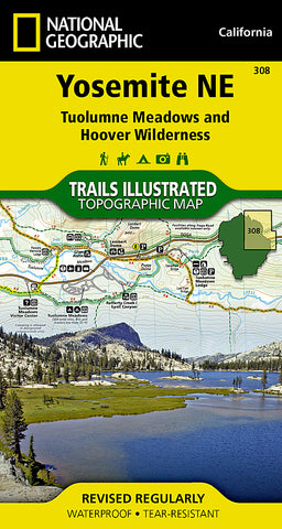 Buy map Yosemite NE, Tuolumne Meadows and Hoover Wilderness, Map 308 by National Geographic Maps