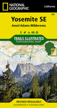 Buy map Yosemite Southeast, Ansel Adams Wilderness, Map 309 by National Geographic Maps