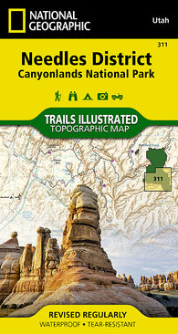Buy map Canyonlands National Park, Needles District, Map 311 by National Geographic Maps
