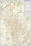 Canyonlands National Park, Needles District, Map 311 by National Geographic Maps - Back of map
