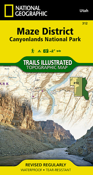 Buy map Canyonlands National Park, Maze District, Map 312 by National Geographic Maps