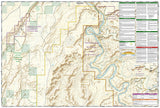 Canyonlands National Park, Maze District, Map 312 by National Geographic Maps - Back of map