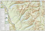 Glacier National Park, North Fork, Map 313 by National Geographic Maps - Back of map