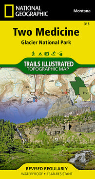 Buy map Glacier National Park, Two Medicine by National Geographic Maps