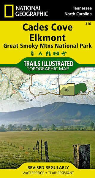 Buy map Cades Cove, Great Smoky Mountains National Park, Map 316 by National Geographic Maps