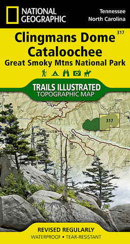 Buy map Clingmans Dome and Cataloochee, Great Smoky Mtns Natl Park, Map 317 by National Geographic Maps
