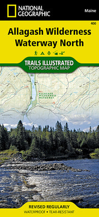 Buy map Allagash Wilderness Waterway, North, Maine, Map 400 by National Geographic Maps