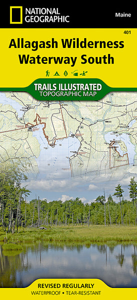 Buy map Allagash Wilderness Waterway, South, Maine, Map 401 by National Geographic Maps