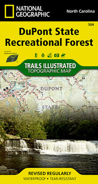 Buy map DuPont State Recreational Forest, Map 504 by National Geographic Maps
