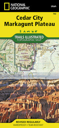 Buy map Cedar Mountain and Ashdown Gorge, Utah by National Geographic Maps