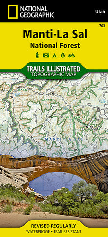 Buy map Manti La Sal National Forest by National Geographic Maps