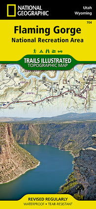 Buy map Flaming Gorge NRA and Eastern Uintas, Utah, Map 704 by National Geographic Maps