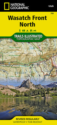 Buy map Wasatch Front, North, Map 709 by National Geographic Maps