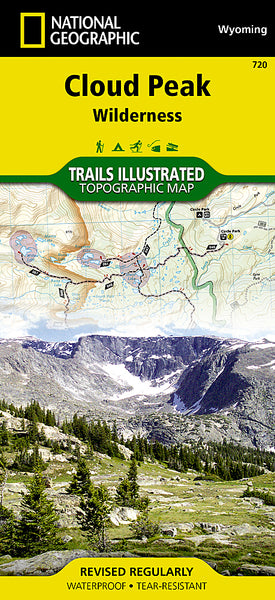 Buy map Cloud Peak Wilderness, Wyoming, Map 720 by National Geographic Maps