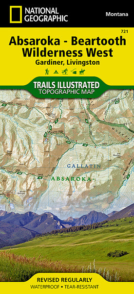 Buy map Absaroka-Beartooth Wilderness, West, Map 721 by National Geographic Maps