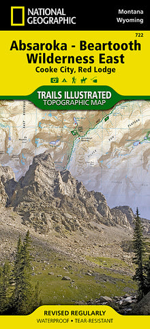 Buy map Absaroka-Beartooth Wilderness, East, Map 722 by National Geographic Maps