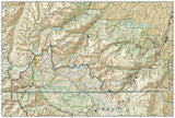 Absaroka-Beartooth Wilderness, East, Map 722 by National Geographic Maps - Back of map