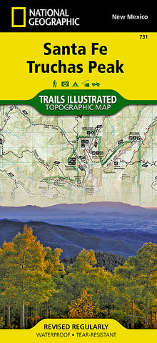 Buy map Santa Fe and Truchas Peak, NM, Map 731 by National Geographic Maps