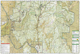 Santa Fe and Truchas Peak, NM, Map 731 by National Geographic Maps - Back of map