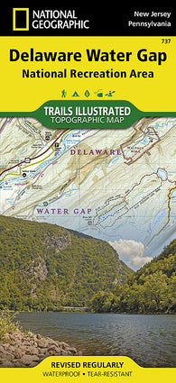 Buy map Delaware Water Gap, Map 737 by National Geographic Maps