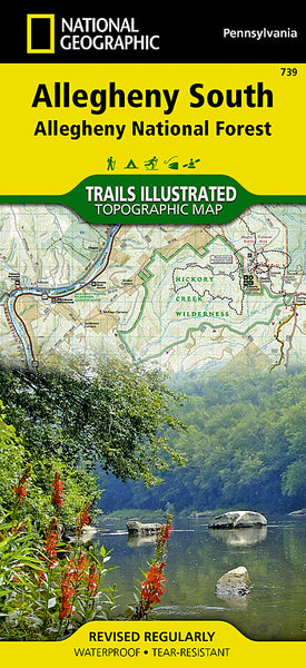 Buy map Allegheny National Forest, South, Map 739 by National Geographic Maps