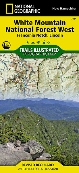 Buy map Franconia Notch, Lincon, Western White Mountains Natl Forest, Map 740 by National Geographic Maps