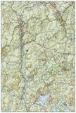 Franconia Notch, Lincon, Western White Mountains Natl Forest, Map 740 by National Geographic Maps - Back of map
