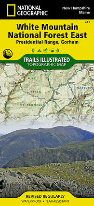 Buy map White Mountains National Forest, Presidential Range and Gorham, Map 741 by National Geographic Maps
