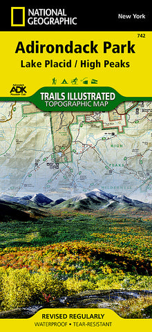 Buy map Lake Placid and High Peaks, Adirondack Park, Map 742 by National Geographic Maps