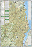 Lake Placid and High Peaks, Adirondack Park, Map 742 by National Geographic Maps - Back of map