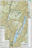 Lake George and Great Sacandaga Lake, Adirondack Park, Map 743 by National Geographic Maps - Back of map