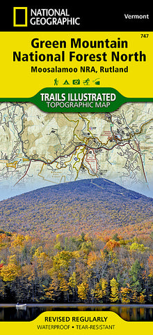 Buy map Green Mountains Natl Forest, Moosalamoo NRA-Rutland,  Map 747 by National Geographic Maps