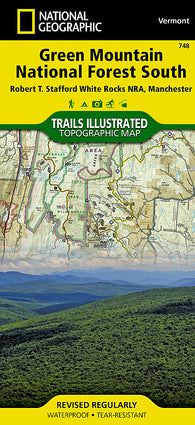 Buy map Green Mountain Natl Forest, White Rocks NRA, Manchester, Map 748 by National Geographic Maps
