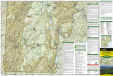 Green Mountain Natl Forest, White Rocks NRA, Manchester, Map 748 by National Geographic Maps - Front of map