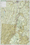 Green Mountain Natl Forest, White Rocks NRA, Manchester, Map 748 by National Geographic Maps - Back of map