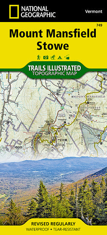 Buy map Mount Mansfield and Stowe, Map 749 by National Geographic Maps