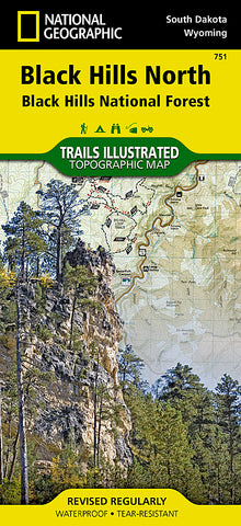 Buy map Black Hills National Forest, North, SD, Map 751 by National Geographic Maps