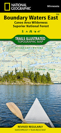 Buy map Boundary Waters Canoe Area Wilderness, East, MN, Map 752 by National Geographic Maps