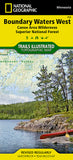 Buy map Boundary Waters Canoe Area Wilderness, West, MN, Map 753 by National Geographic Maps