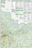 Boundary Waters Canoe Area Wilderness, West, MN, Map 753 by National Geographic Maps - Back of map