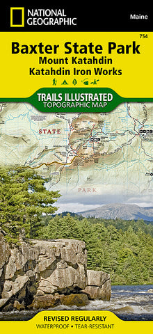 Buy map Baxter State Park & Mt. Katahdin, Maine, Map 754 by National Geographic Maps