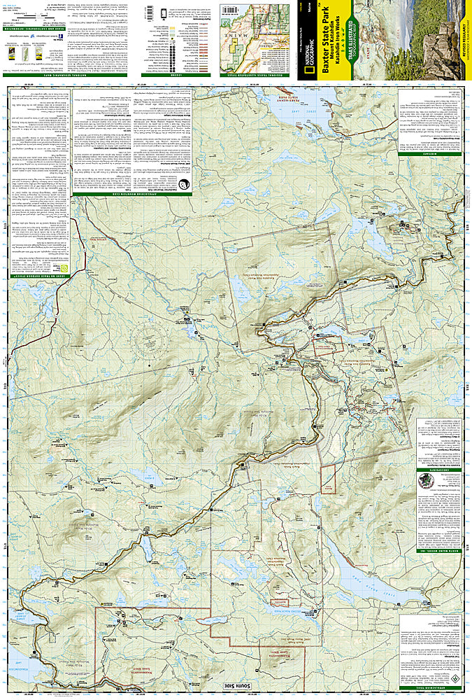 Baxter State Park & Mt. Katahdin, Maine, Map 754 by National Geographic Maps