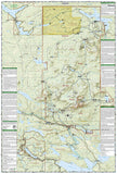 Baxter State Park & Mt. Katahdin, Maine, Map 754 by National Geographic Maps - Back of map