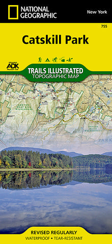 Buy map Catskill Park, New York, Map 755 by National Geographic Maps