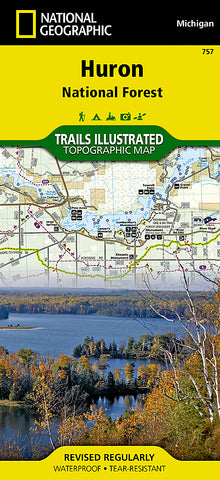 Buy map Huron National Forest, Map 757 by National Geographic Maps